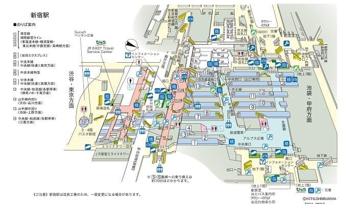 新宿駅(新宿区/駅)の地図|マピオン