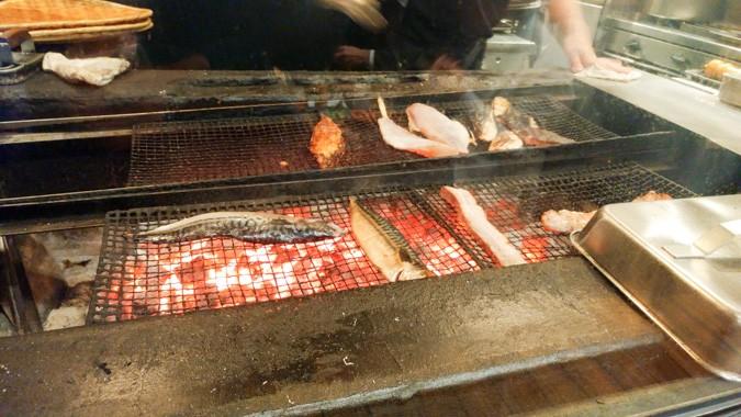 焼いてる魚